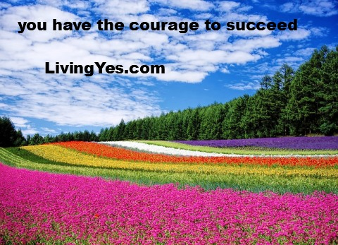 You have the courage to succeed